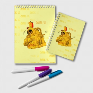Collectibles Notepad Among Us Yellow Imposter Pointing