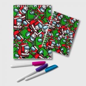 Collectibles Notepad Santa Imposter Among Us