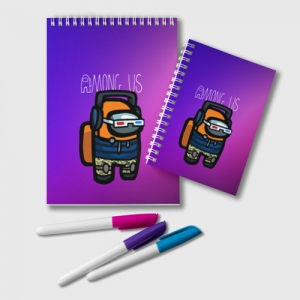 Collectibles Gradient Notepad Among Us Purple