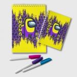 Merch - Purple Notepad Among Us Yellow
