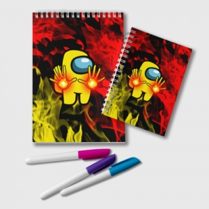 Collectibles Fire Mage Notepad Among Us Flames