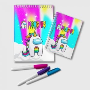 Merch Rainbow Notepad Unicorn Among Us