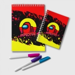 Merch - Notepad Among Us Impostor Red Yellow
