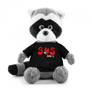 Merch - Plush Raccoon Among Us Sus Red Imposter Black
