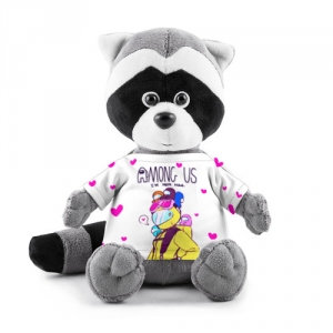 Merch - Mom Now Plush Raccoon Among Us White Heart Emoji