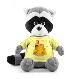 Merchandise - Plush Raccoon Among Us Yellow Imposter Pointing