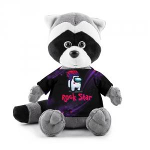 Merchandise Among Us Rock Star Plush Raccoon