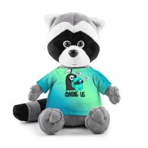 Merchandise Plush Raccoon Among Us Death Behind Cyan