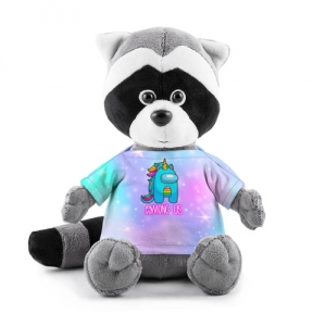 Merchandise Among Us Plush Raccoon Rainbow Unicorn
