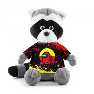 Merchandise Plush Raccoon Among Us Impostor Red Yellow
