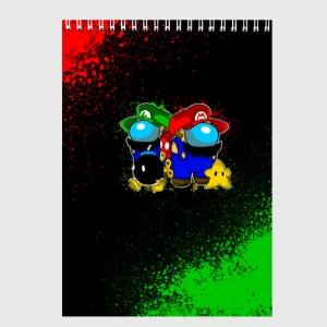 Collectibles Sketchbook Among Us Mario Luigi