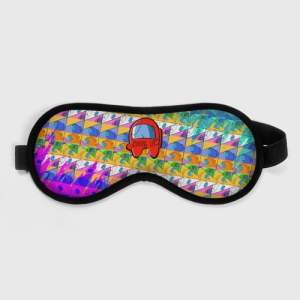 Collectibles Sleep Mask Among Us Pattern Colored