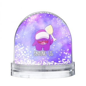 Collectibles Snow Globe Among Us Imposter Purple