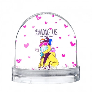 Collectibles Mom Now Snow Globe Among Us White Heart Emoji