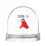 Merch - Red Crewmate Snow Globe Among Us