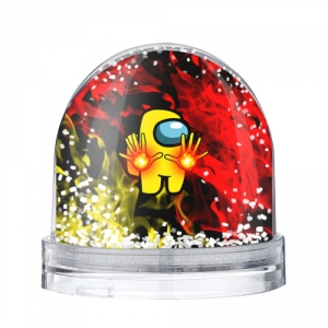 Merch - Fire Mage Snow Globe Among Us Flames