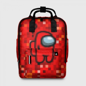 Merchandise - Red Pixel Women'S Backpack Among Us 8Bit