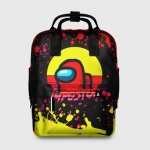 Collectibles Women'S Backpack Among Us Impostor Red Yellow