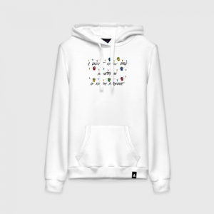 - People 1 Woman Hoodie Front White 500 84
