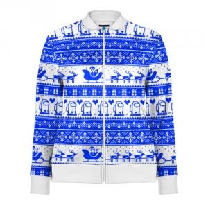 Merch Track Jacket Among Us Christmas Pattern
