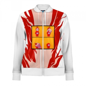 - People 1 Woman Track Jacket Front White 500 90