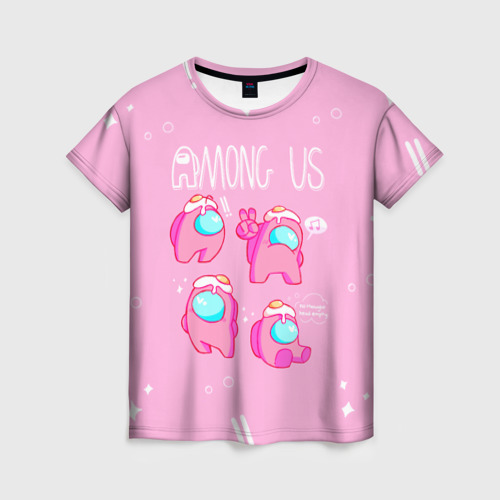 Collectibles Pink Women'S T-Shirt Among Us Egg Head