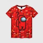 Merchandise Red Pixel Women'S T-Shirt Among Us 8Bit