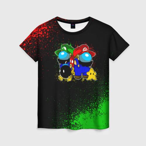 Merchandise Women'S T-Shirt Among Us Mario Luigi