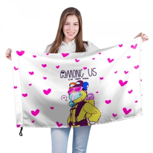 Merchandise - Mom Now Large Flag Among Us White Heart Emoji