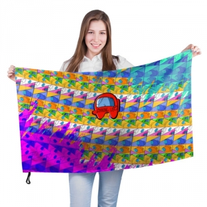 Merchandise Large Flag Among Us Pattern Colored