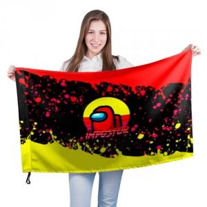 Merchandise Large Flag Among Us Impostor Red Yellow