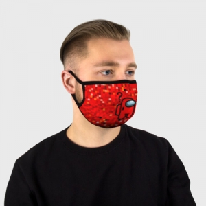 Collectibles Red Pixel Face Mask Among Us 8Bit
