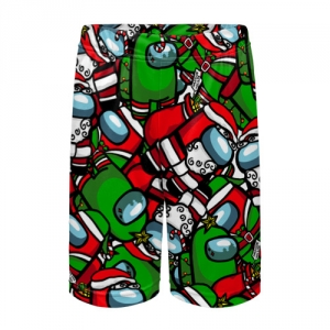 Merchandise Kids Shorts Santa Imposter Among Us