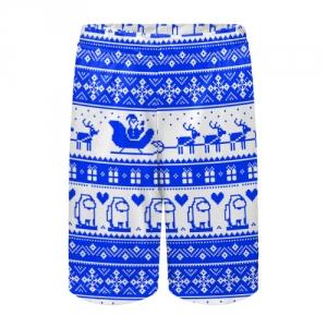 Merchandise Kids Shorts Among Us Christmas Pattern