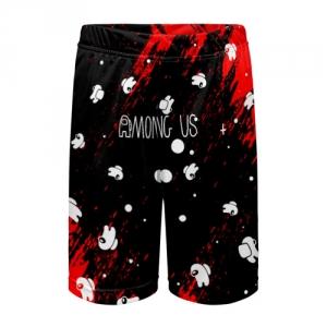Merchandise Kids Shorts Among Us Blood Black