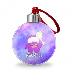 Merchandise - Christmas Tree Ball Among Us Imposter Purple
