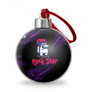 Merch Among Us Rock Star Christmas Tree Ball