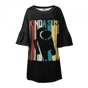 Merchandise Girls Dress Kinda Sus Among Us Black