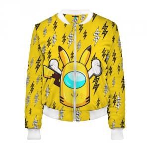 Merchandise Yellow Women'S Bomber Among Us Pikachu