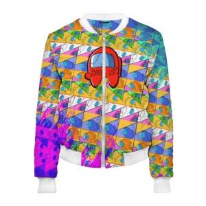 Merchandise Women'S Bomber Among Us Pattern Colored