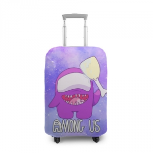 Merchandise Suitcase Cover Among Us Imposter Purple