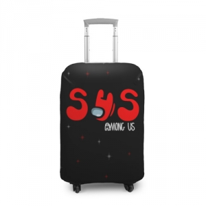 Merchandise Suitcase Cover Among Us Sus Red Imposter Black