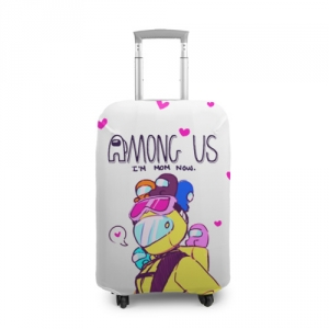 Merchandise Mom Now Suitcase Cover Among Us White Heart Emoji