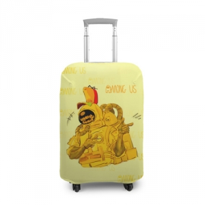 Collectibles Suitcase Cover Among Us Yellow Imposter Pointing