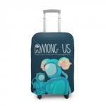 Merchandise Cyan Suitcase Cover Among Us Spaceman Art