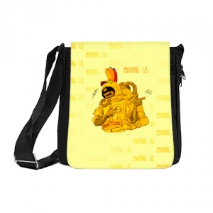 Merch Shoulder Bag Among Us Yellow Imposter Pointing