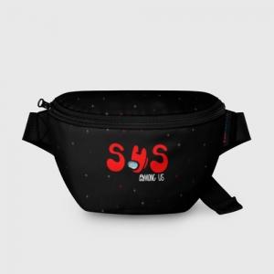 Merchandise Bum Bag Among Us Sus Red Imposter Black