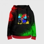 - People 3 Child Hoodie Full Front Red 500 10