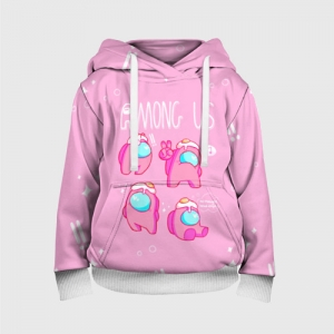 - People 3 Child Hoodie Full Front White 500 161
