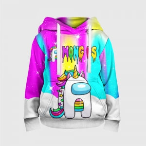 Merch Rainbow Kids Hoodie Unicorn Among Us